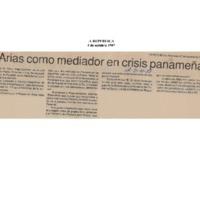 La República Arias como mediador en crisis panameña.pdf