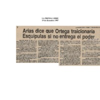 Arias dice que Ortega traicionaría Esquipula si no entrega el poder..pdf