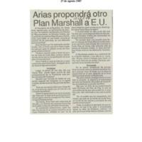 Arias propondrá un otro Plan Marchall a E.U