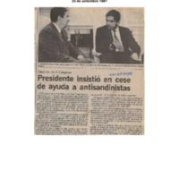 La Nación Presidente insistió en cese de ayuda a antisandinistas.pdf