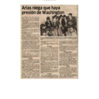 La Nación Arias niega que haya presión de Washington.pdf